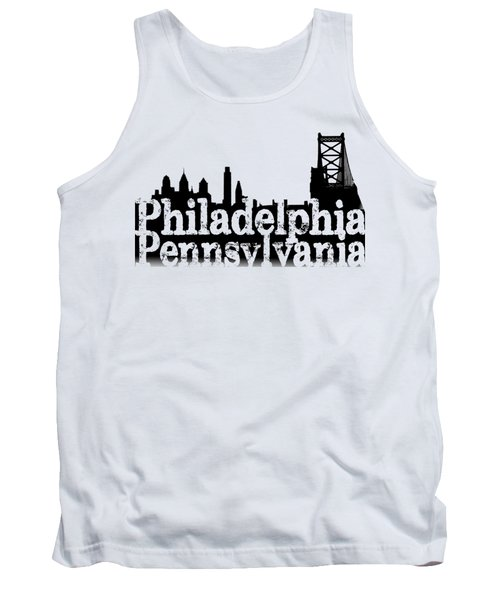 Philadelphia Pennsylvania Tank Top by Christopher Woods
