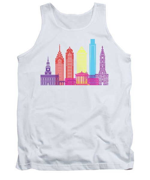 Philadelphia Skyline Pop Tank Top