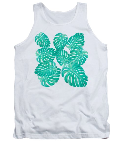 Philodendron Leaves Tank Top by Jan Matson