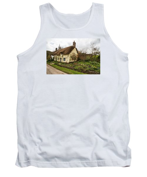 Picturesque Dunster Cottage Tank Top by Shirley Mitchell