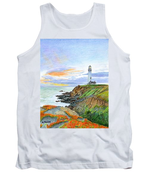 Pigeon Point Sunset Tank Top by Mike Robles