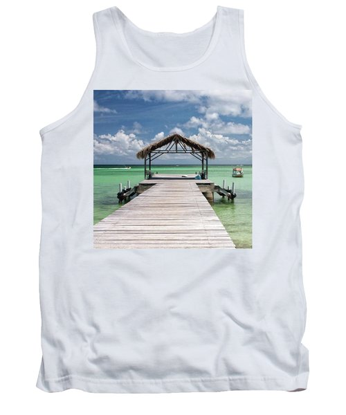 Pigeon Point, Tobago#pigeonpoint Tank Top by John Edwards