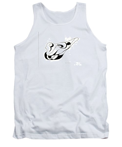 Pigeon Sculpture  Tank Top by Fred Jinkins