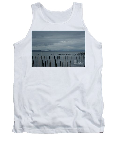 Pilings On Columbia River Tank Top