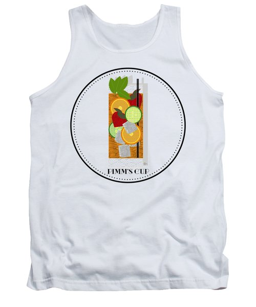 Pimm's Cup Cocktail In Art Deco  Tank Top