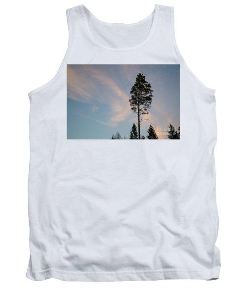 Pine Tree Silhouette Tank Top
