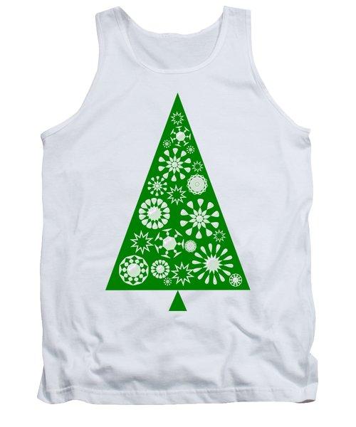 Pine Tree Snowflakes - Green Tank Top