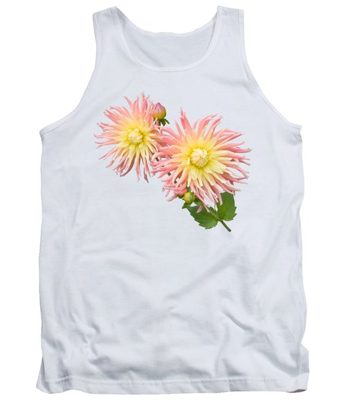 Tank Top featuring the photograph Pink And Cream Cactus Dahlia by Jane McIlroy