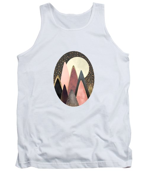 Pink And Gold Peaks Tank Top