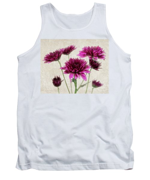 Pink Bouquet Tank Top by Judy Vincent