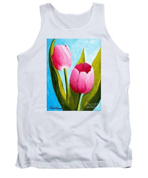 Pink Bubblegum Tulip II Tank Top
