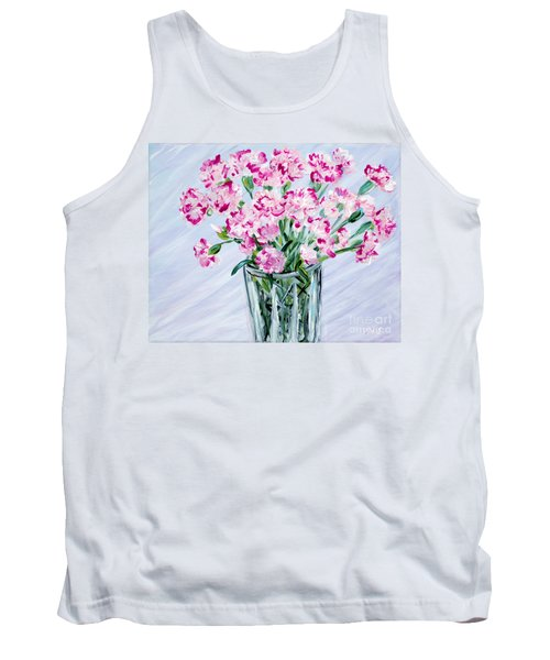 Pink Carnations In A Vase. For Sale Tank Top