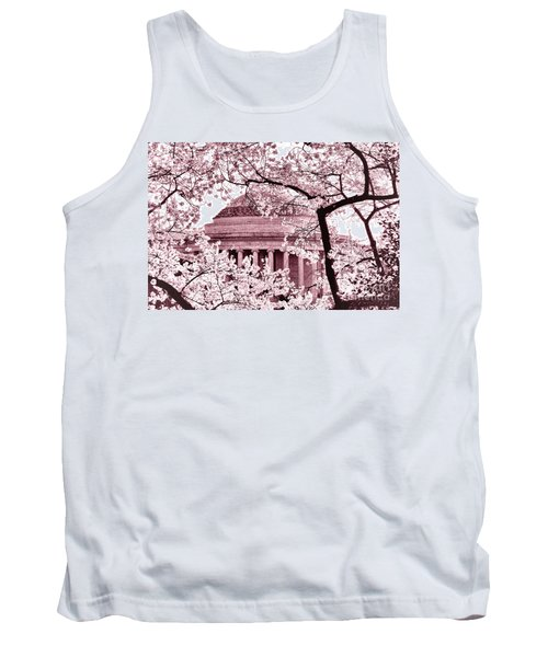 Pink Cherry Trees At The Jefferson Memorial Tank Top