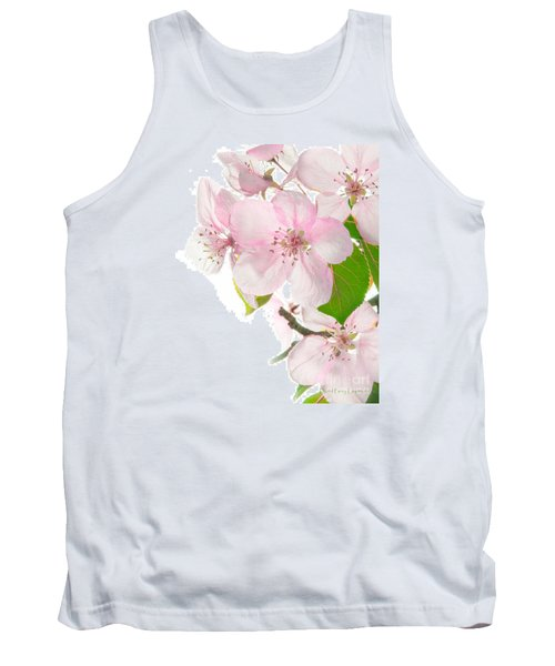 Pink Crabapple Blissoms Tank Top by David Perry Lawrence