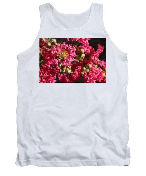 Pink Crepe Myrtle Flowers Tank Top