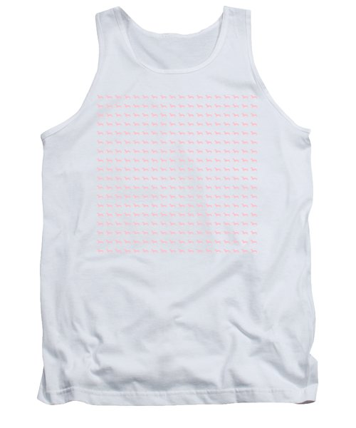 Pink Dachsunds Tank Top