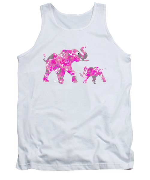 Pink Elephants Tank Top by Christina Rollo