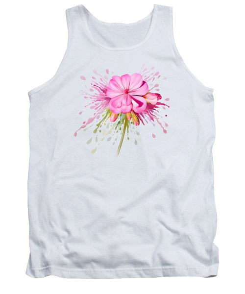 Tank Top featuring the painting Pink Eruption by Ivana Westin