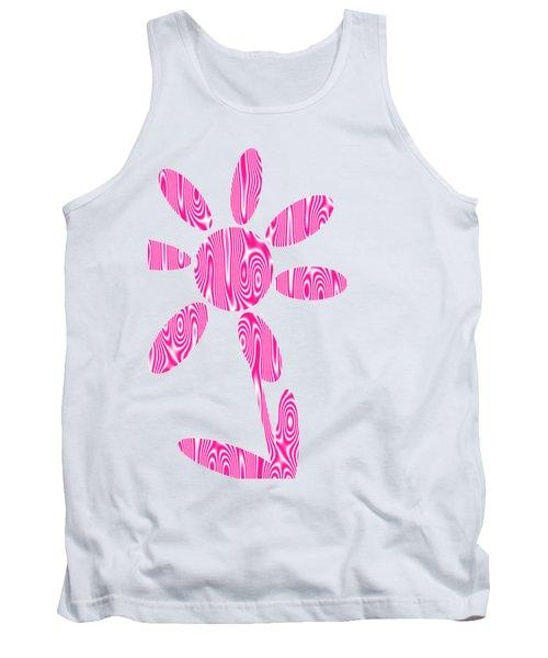 Pink Flower Tank Top by Kathleen Sartoris