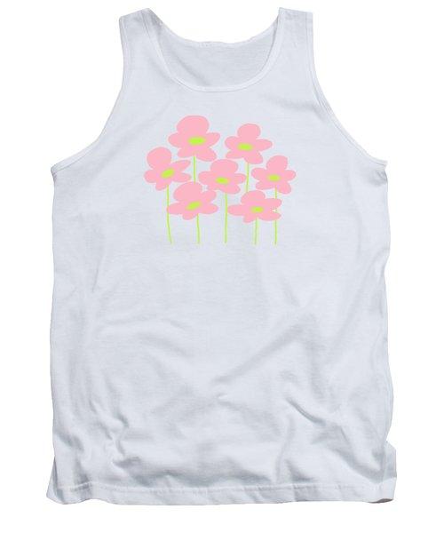 Pink Flowers #1 Tank Top