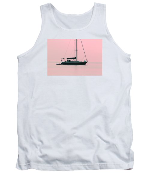 Tank Top featuring the photograph Pink Mediterranean by Richard Patmore