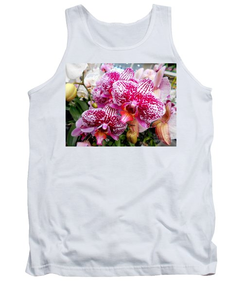 Pink Moth Orchids Tank Top