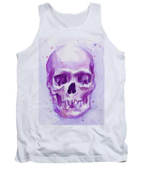 Pink Purple Skull Tank Top