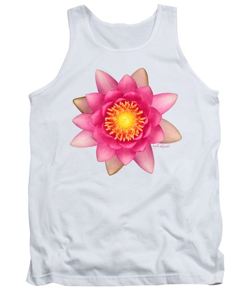 Pink Water Lily Yellow Nectar Transparent Tank Top