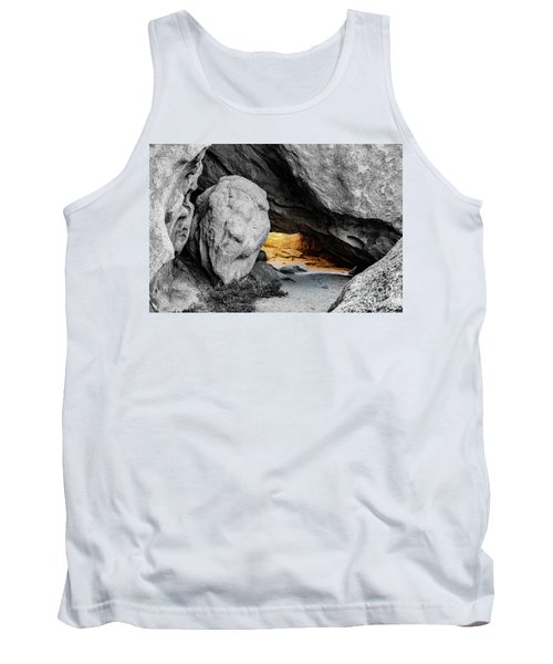 Pirate's Cave, Black And White And Gold Tank Top