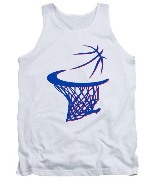 Pistons Basketball Hoop Tank Top