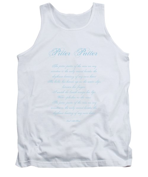 Pitter Patter Poem Typography Tank Top