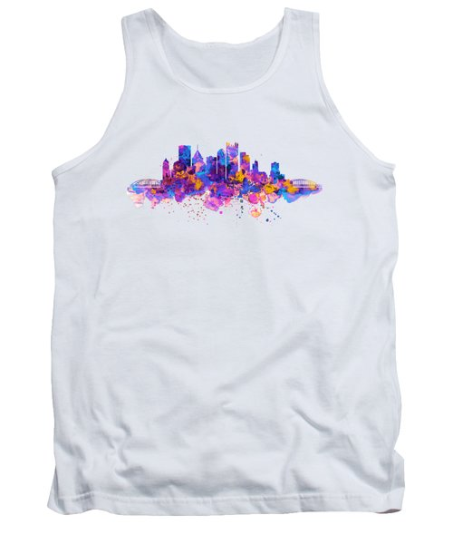Pittsburgh Skyline Tank Top by Marian Voicu