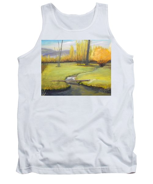 Placid Stream In Field Tank Top