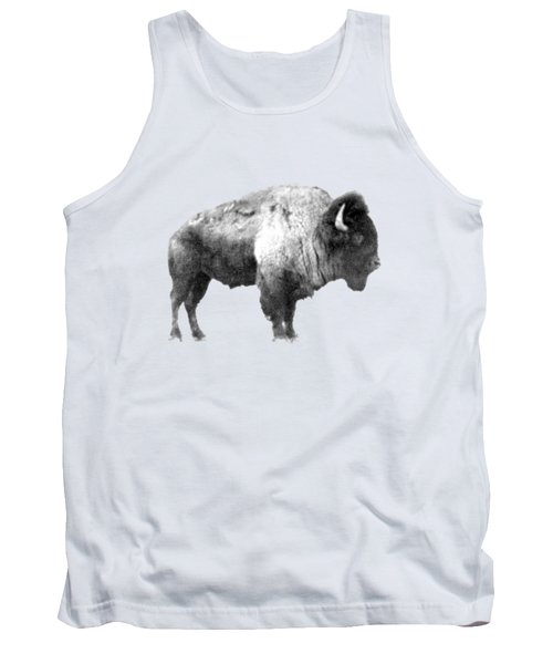 Tank Top featuring the photograph Plains Bison by Jim Sauchyn