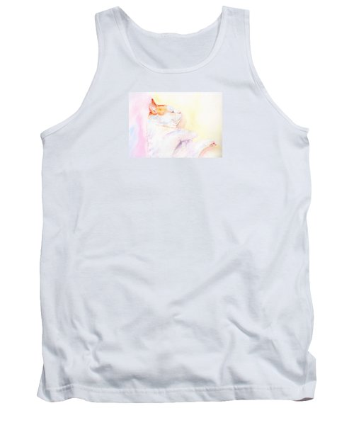 Tank Top featuring the painting Playful Cat Iv by Elizabeth Lock