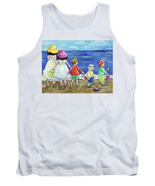 Playing At The Seashore Tank Top by Rosemary Aubut