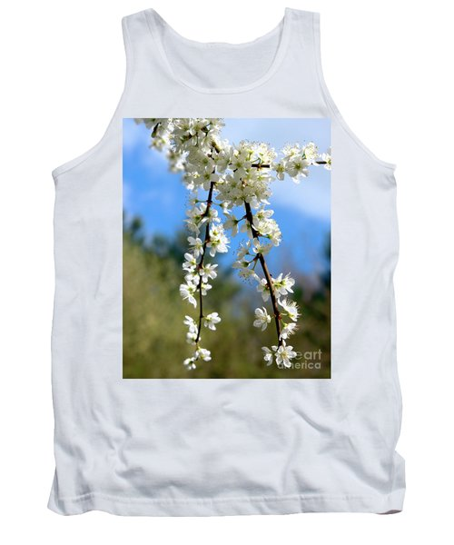 Plum Tree Blossoms Tank Top