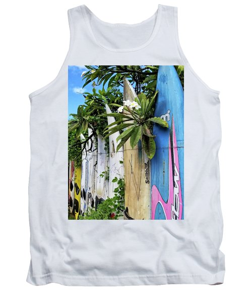 Plumeria Surf Boards Tank Top