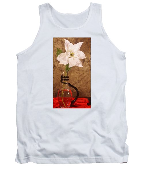 Poinsettia In Pitcher  Tank Top