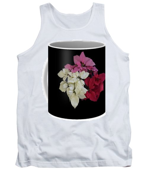 Tank Top featuring the jewelry Poinsettia Tricolor Mug  by R  Allen Swezey