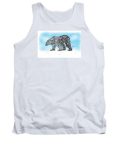 Polar Bear Doodle Tank Top