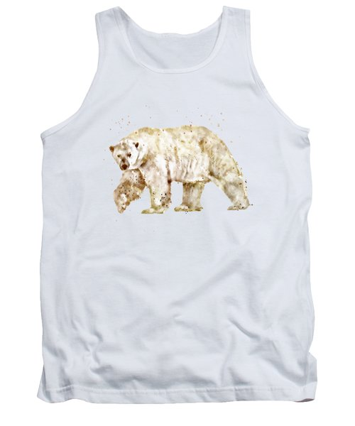 Polar Bear Watercolor Tank Top