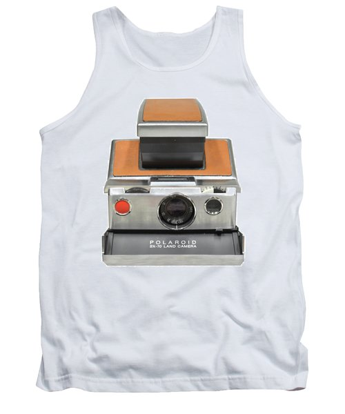 Polaroid Sx70 On White Tank Top
