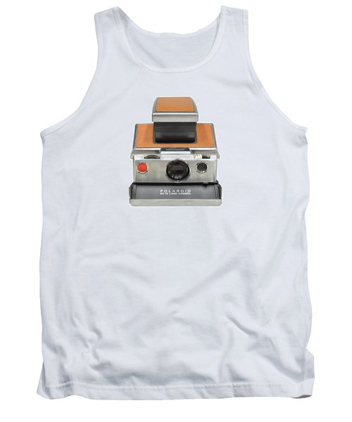 Polaroid Sx70 On White Tank Top