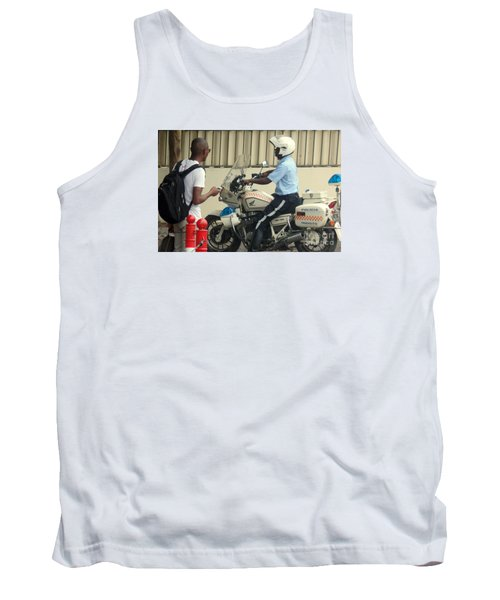 Police Escort Africa Tank Top by John Potts