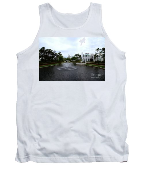 Pond At Alys Beach Tank Top by Megan Cohen