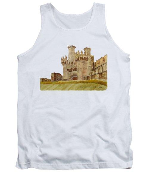 Ponferrada Templar Castle  Tank Top by Angeles M Pomata