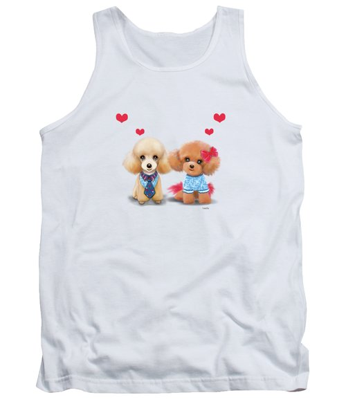 Poodles Are Love Tank Top by Catia Cho