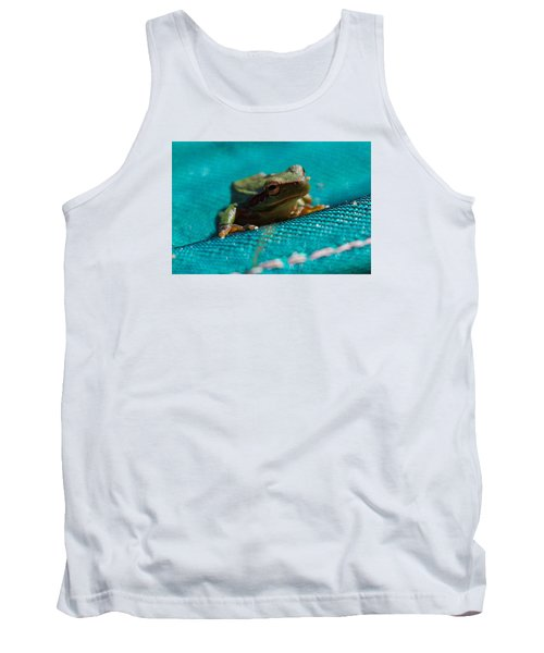 Tank Top featuring the photograph Pool Frog by Richard Patmore