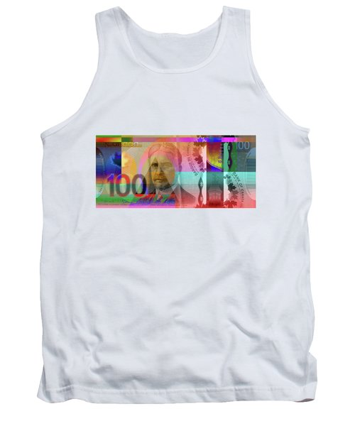 Pop-art Colorized New One Hundred Canadian Dollar Bill Tank Top